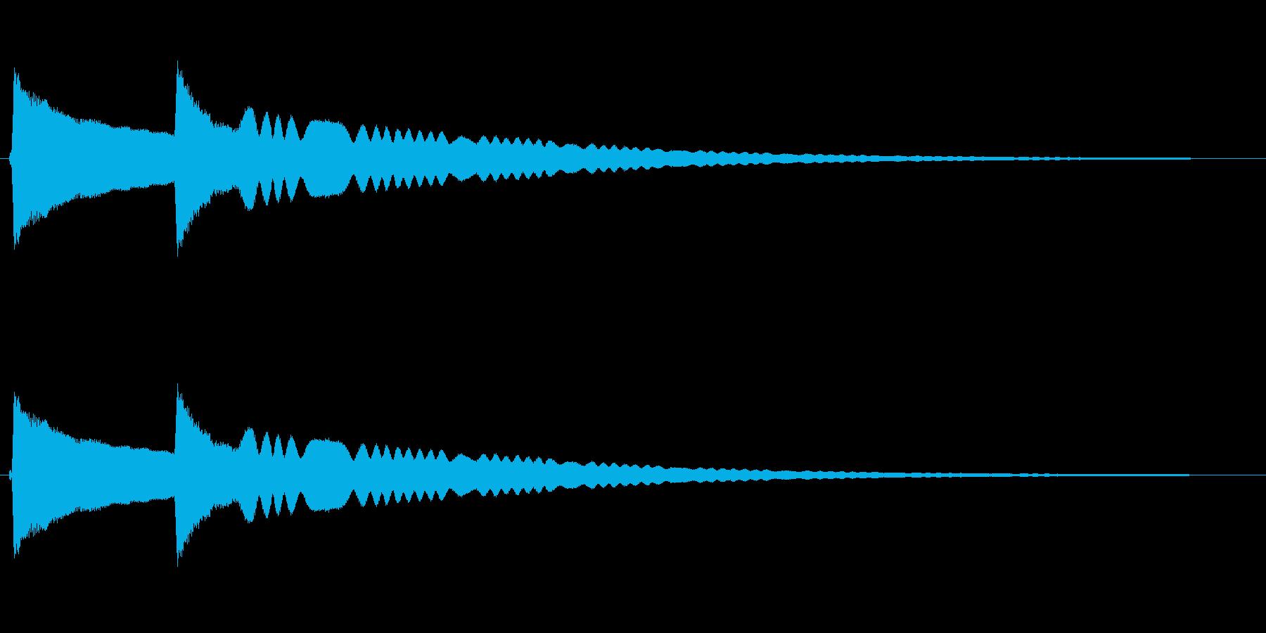 リンリーン(風鈴の音)の再生済みの波形