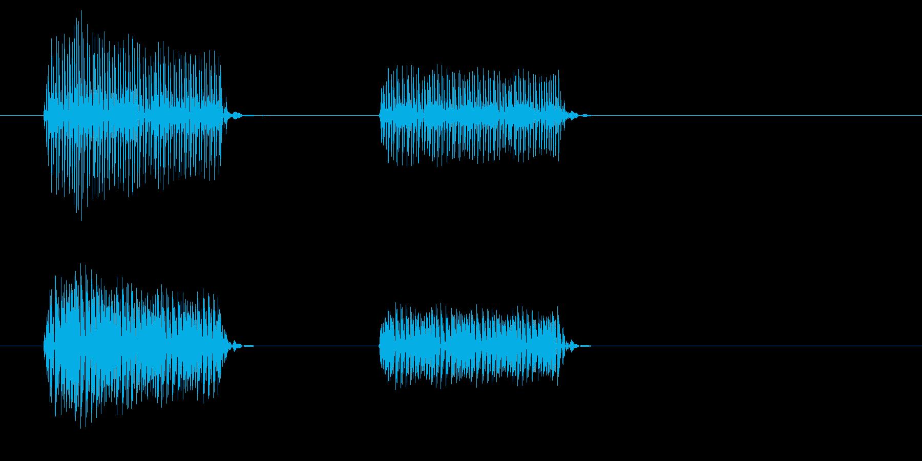 ブブ(クイズ・惜しい・短めのブザー音)の再生済みの波形