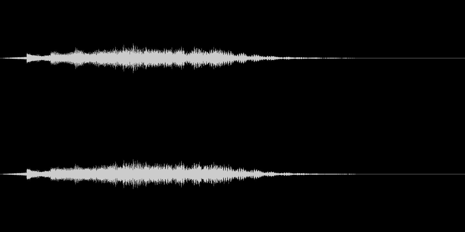 教則ビデオ風タイトル音の未再生の波形