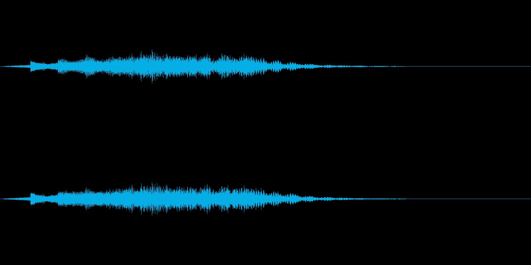 教則ビデオ風タイトル音の再生済みの波形