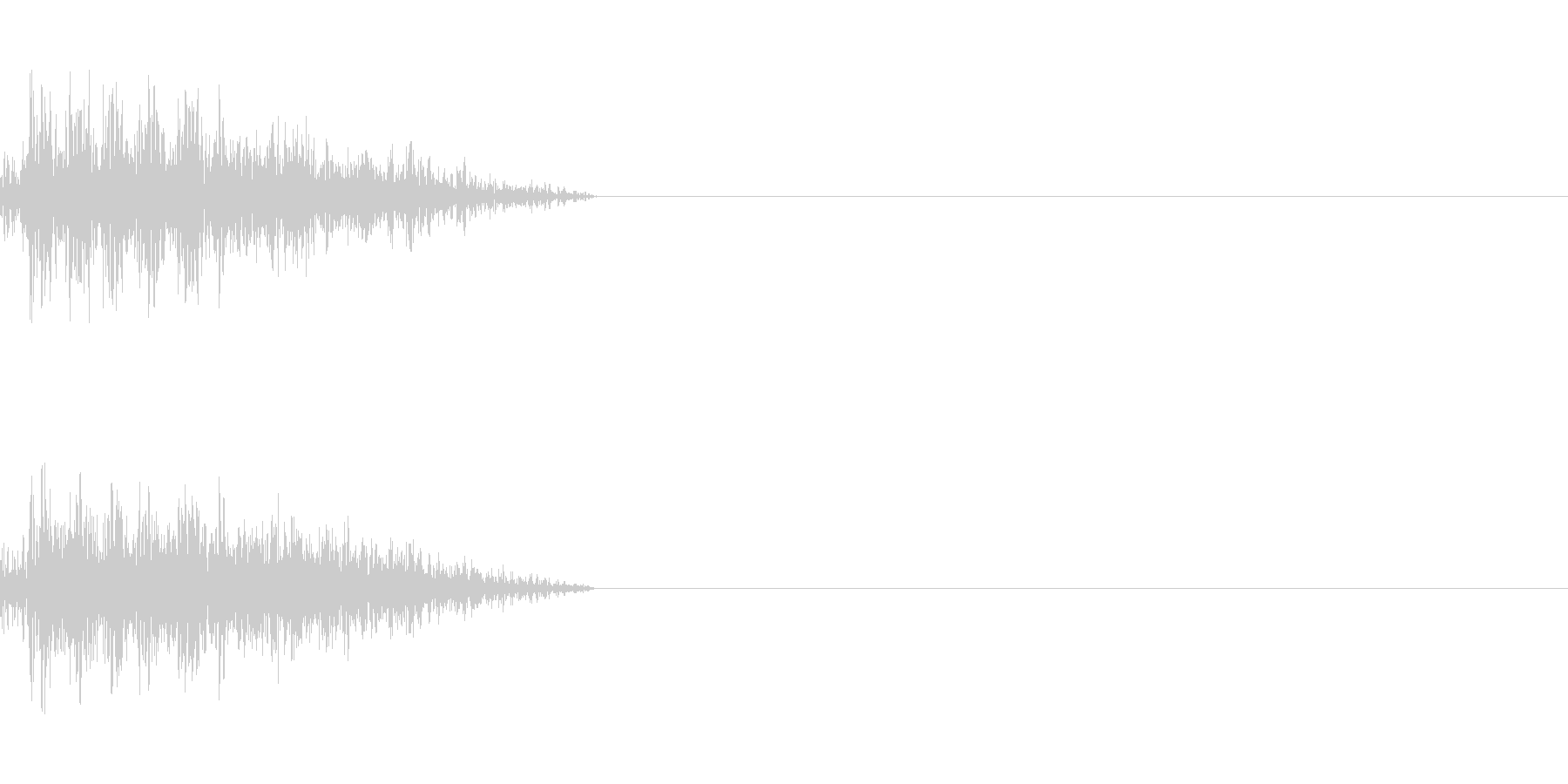 ビーム ワンショット11の未再生の波形
