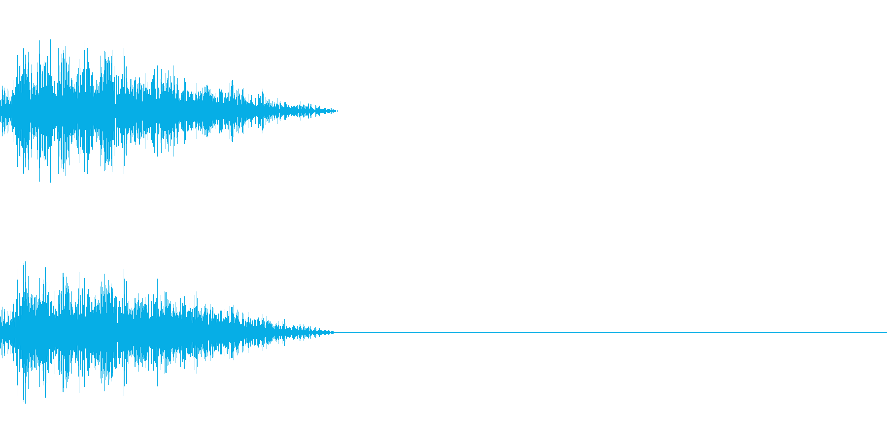 ビーム ワンショット11の再生済みの波形
