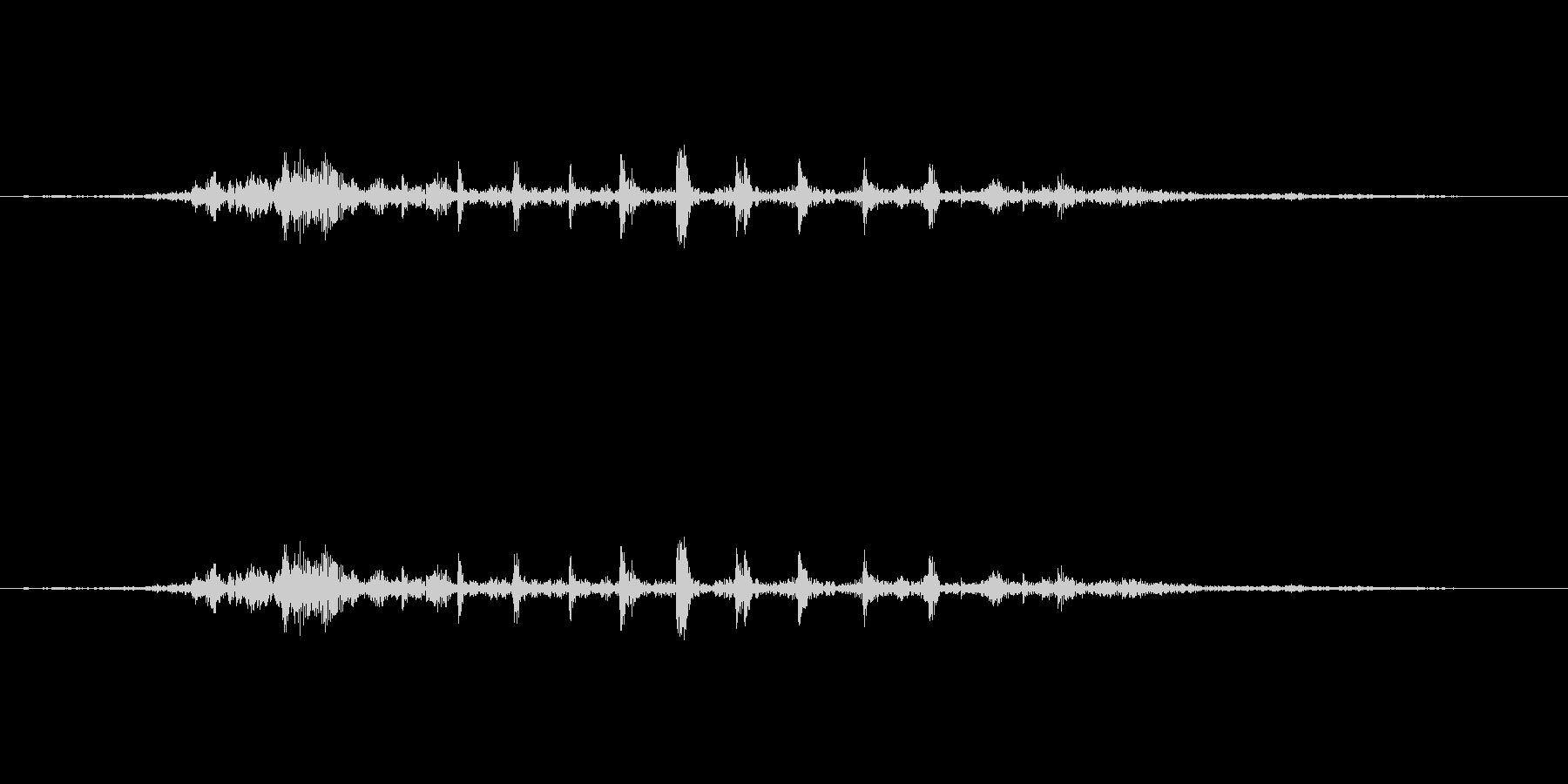 ガルルル・・・の未再生の波形
