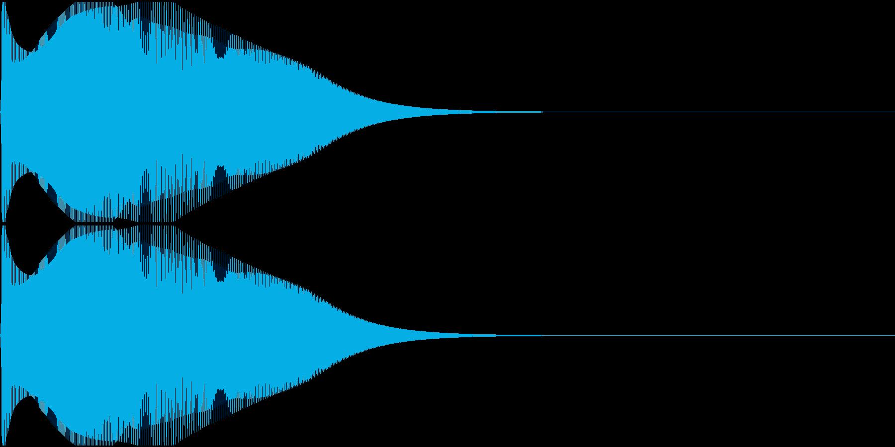 ポウン(バウンド・はねてるような音)の再生済みの波形