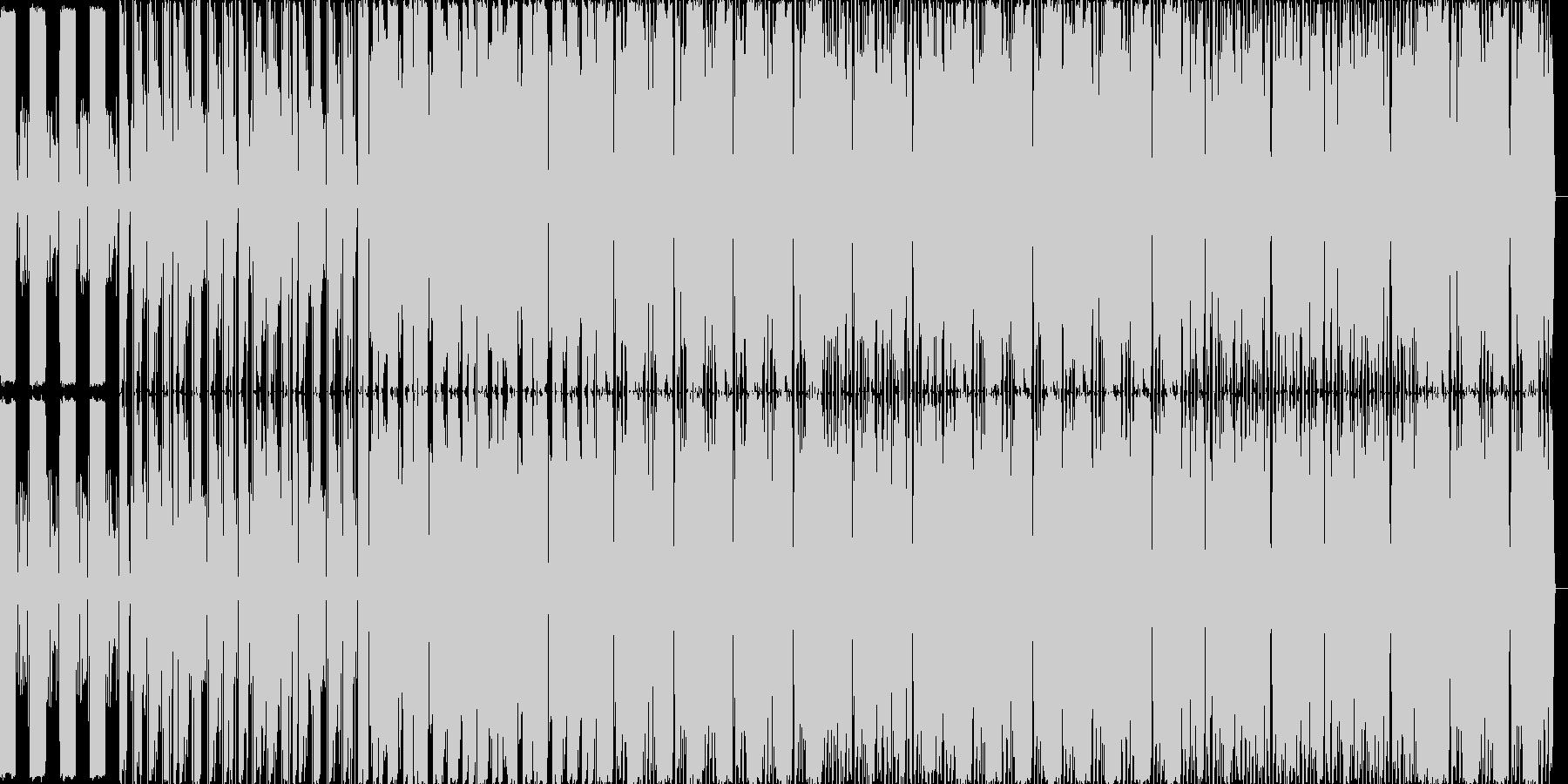 軽快なテクノ曲ですの未再生の波形
