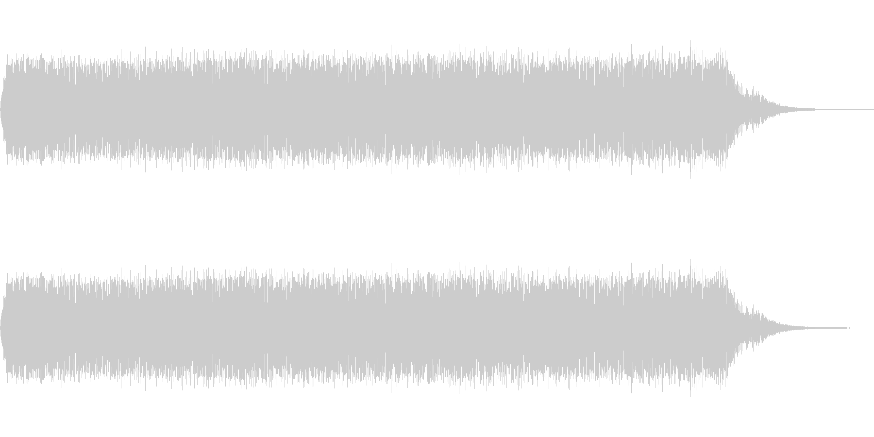 ビーム発射音「ビーッ!」の未再生の波形