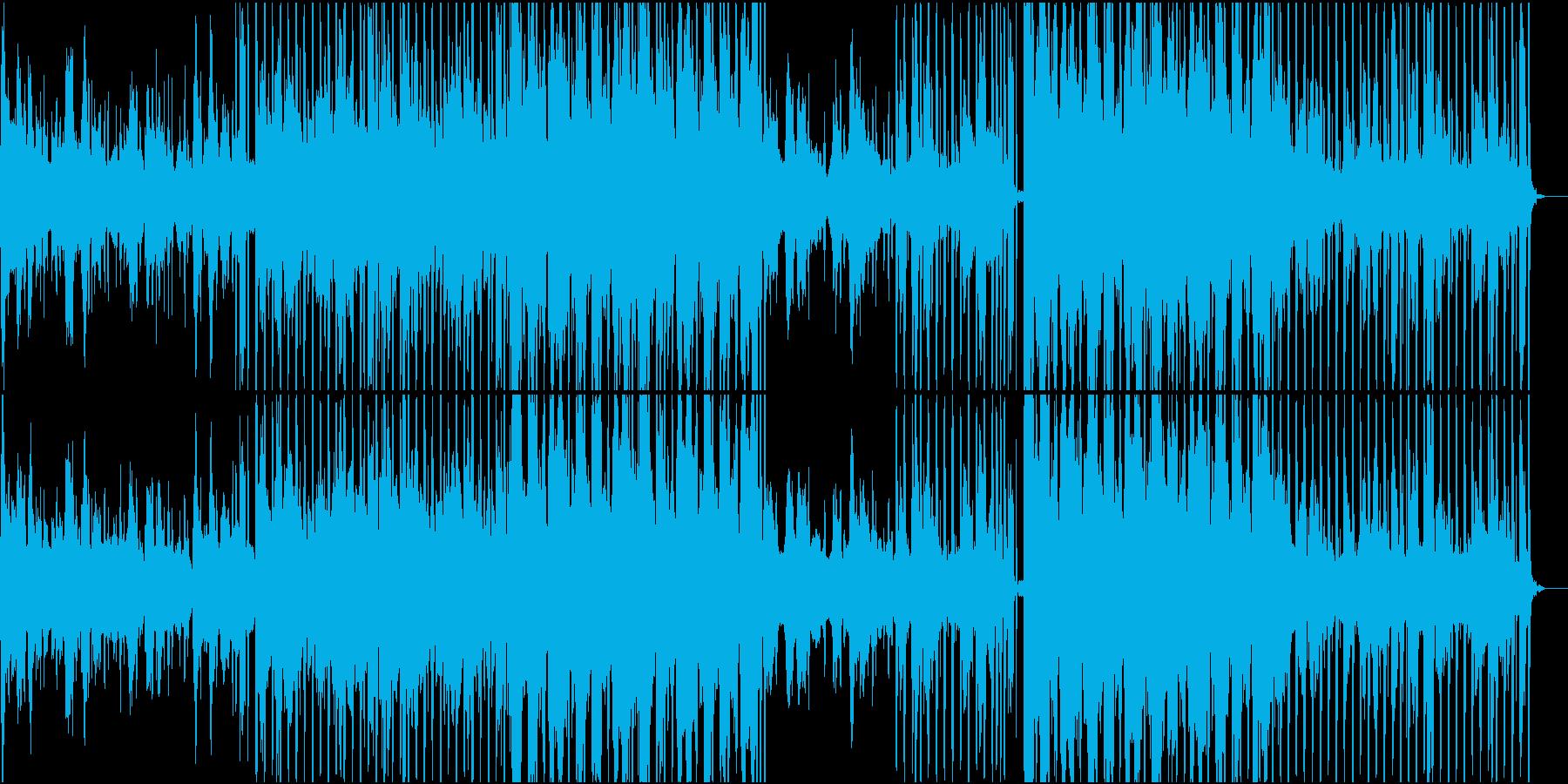 少し怪しげなシンセウェーヴの再生済みの波形