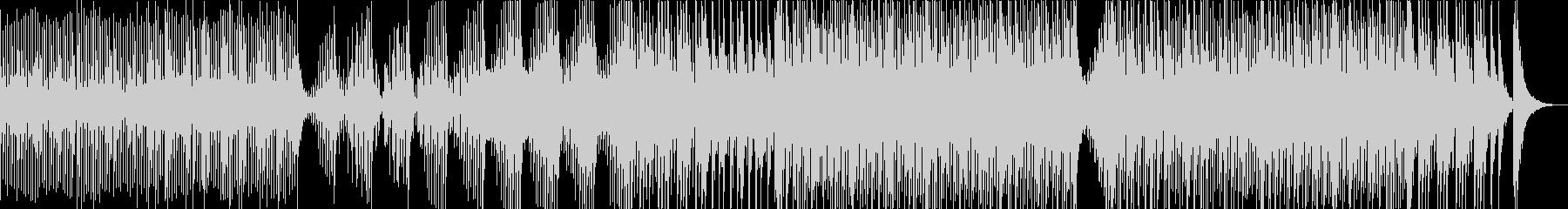 勢いのある三味線と太鼓のアンサンブルの未再生の波形