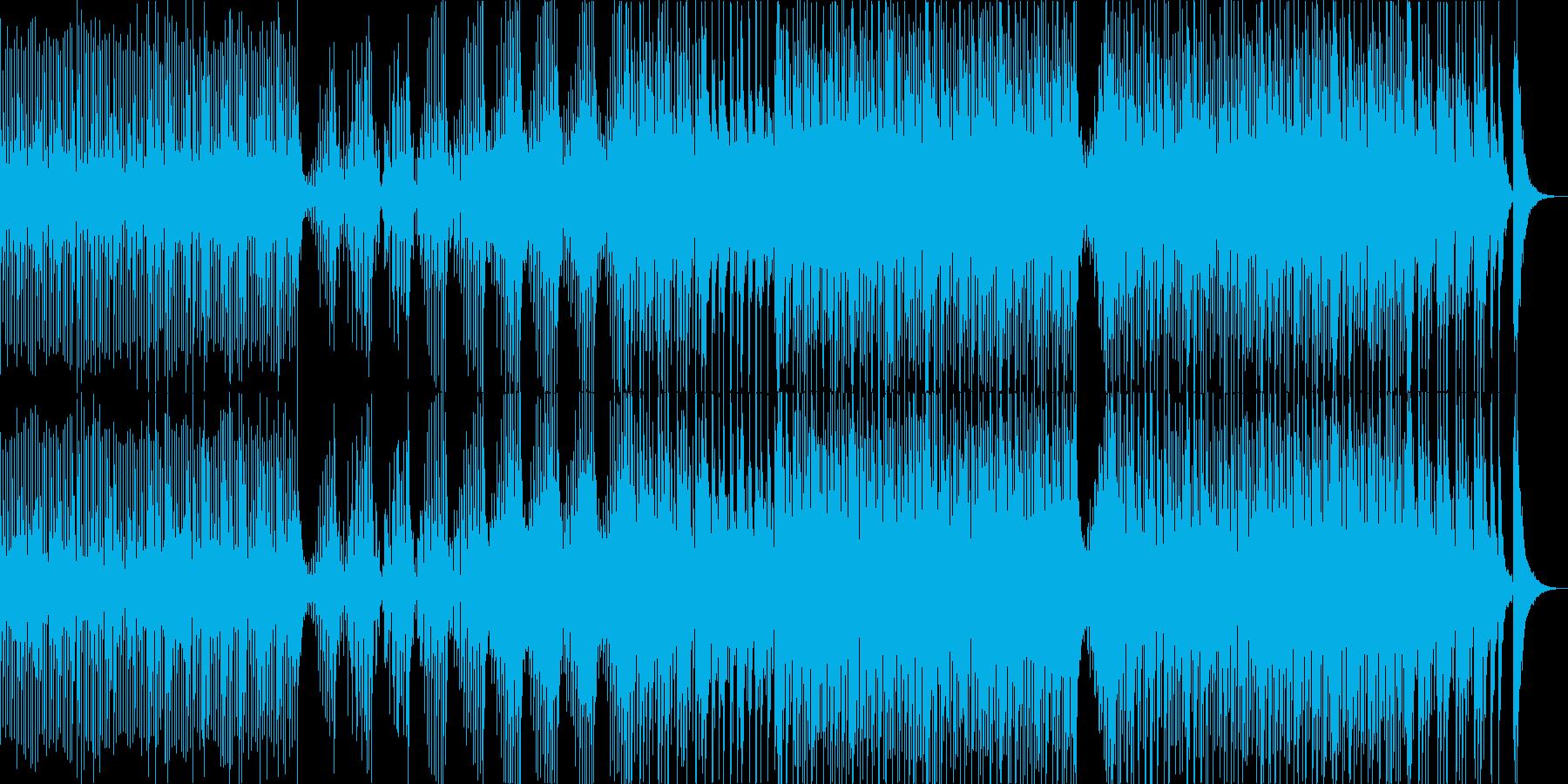 勢いのある三味線と太鼓のアンサンブルの再生済みの波形