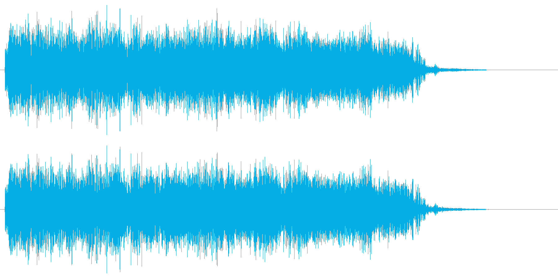 メタルの速弾きギター ジングル 場面転換の再生済みの波形