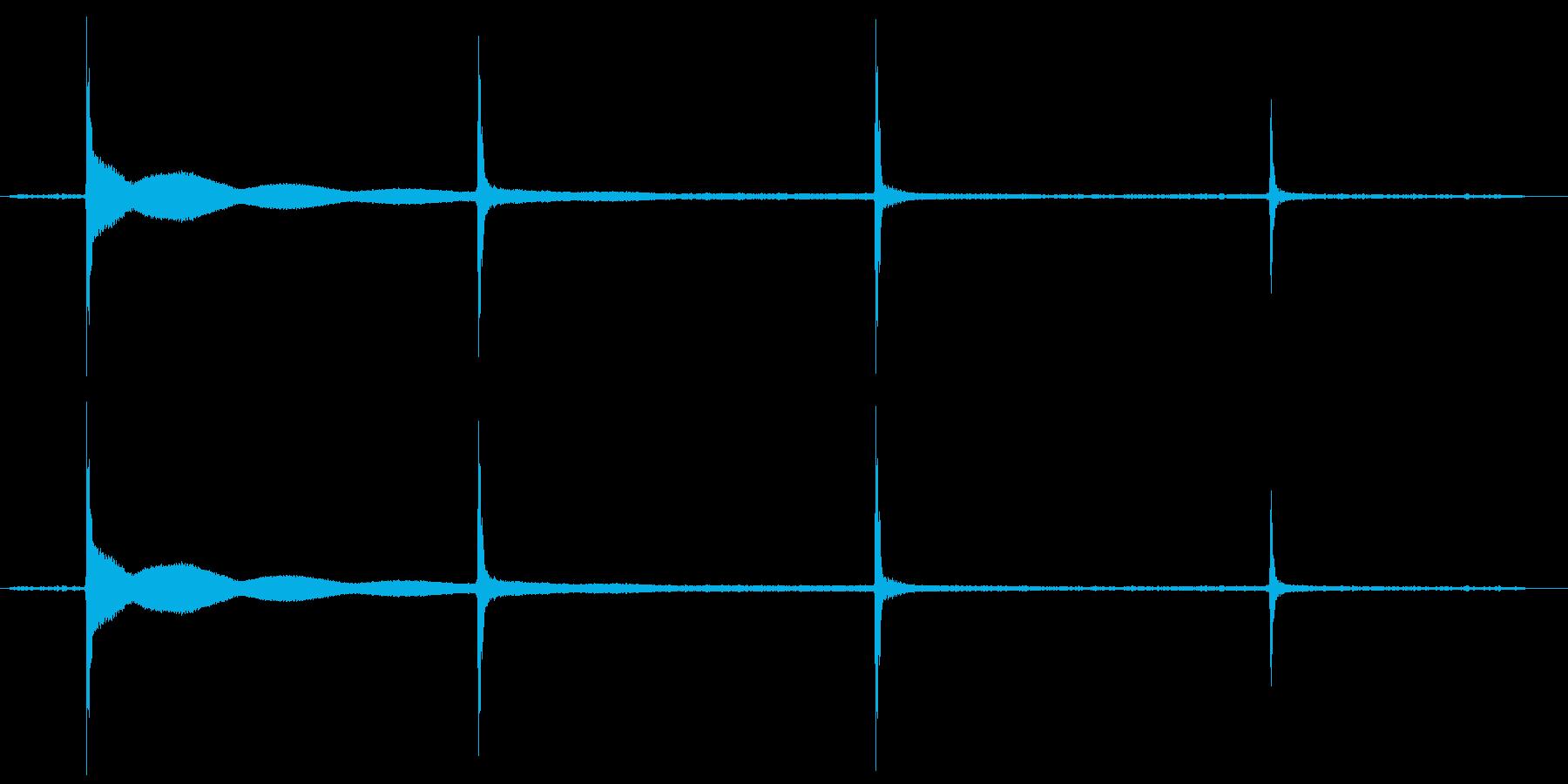 カチカチカチの再生済みの波形
