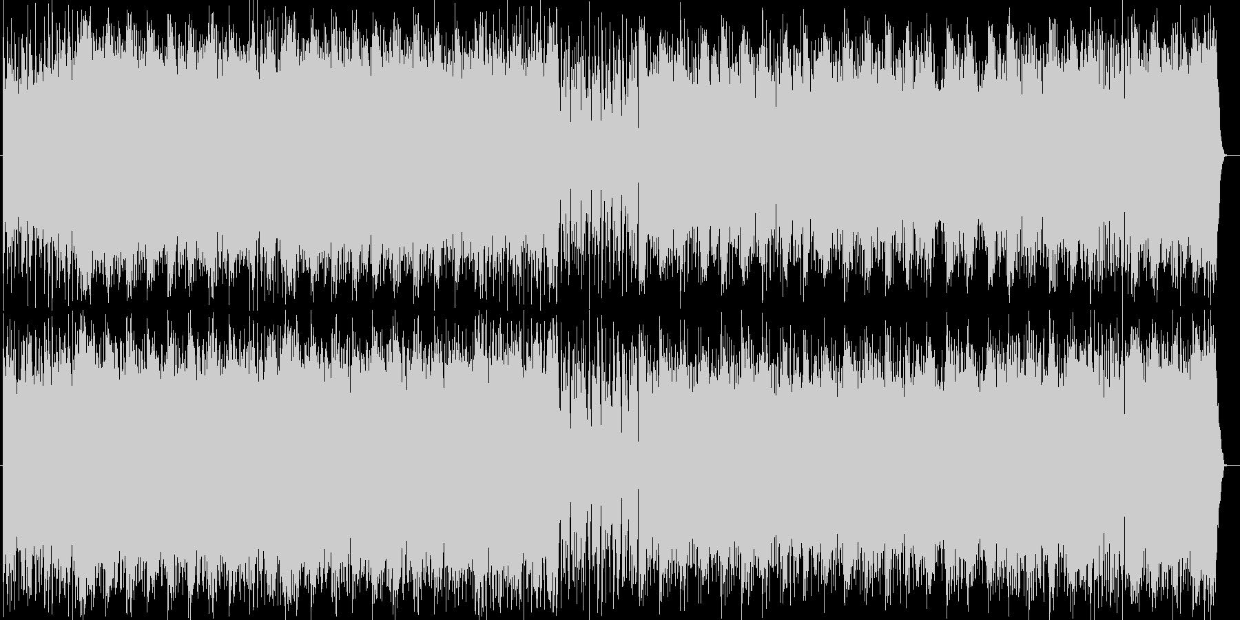 激しい打楽器が繰り広げる壮大な和風の楽曲の未再生の波形