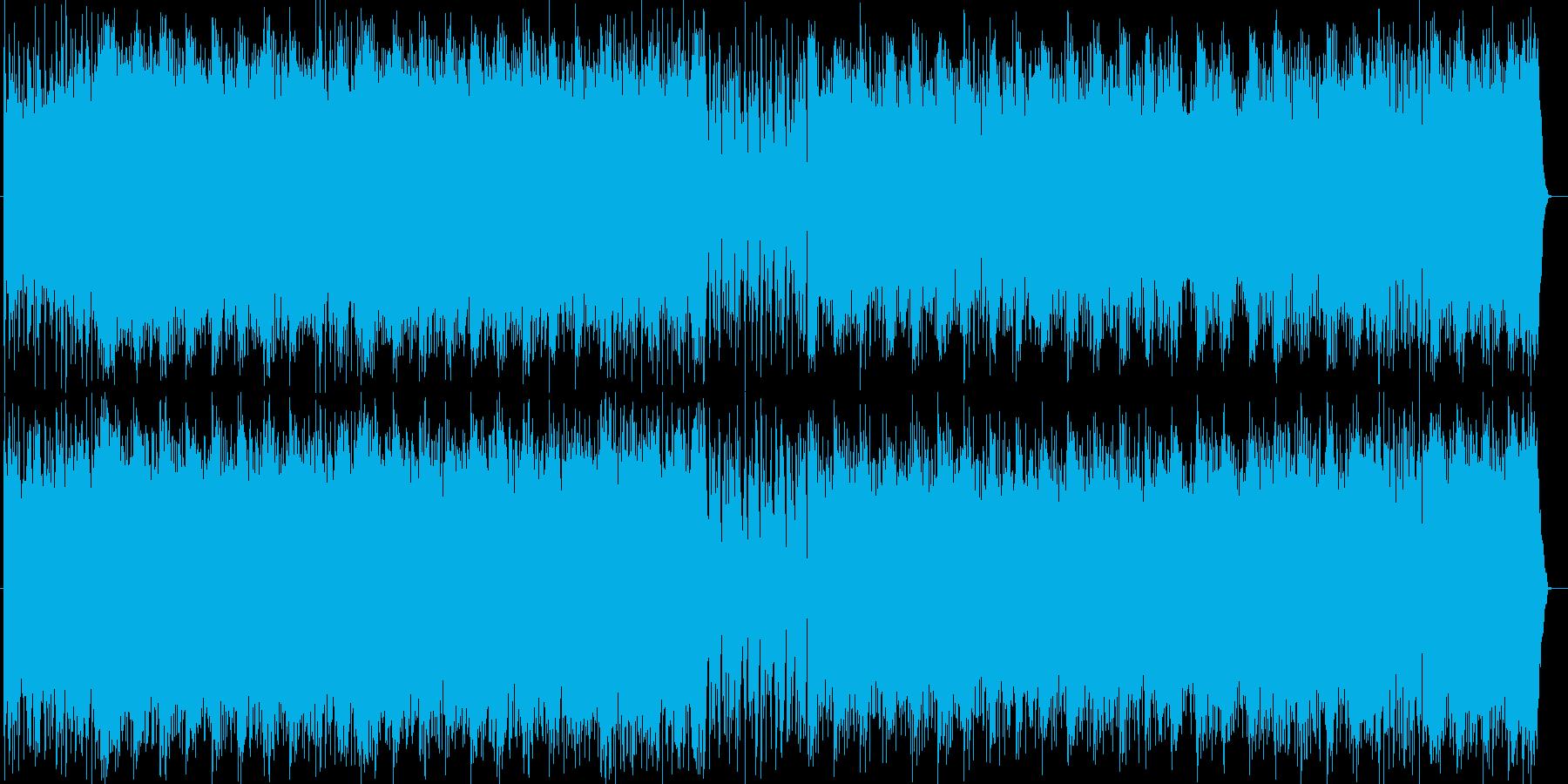 激しい打楽器が繰り広げる壮大な和風の楽曲の再生済みの波形