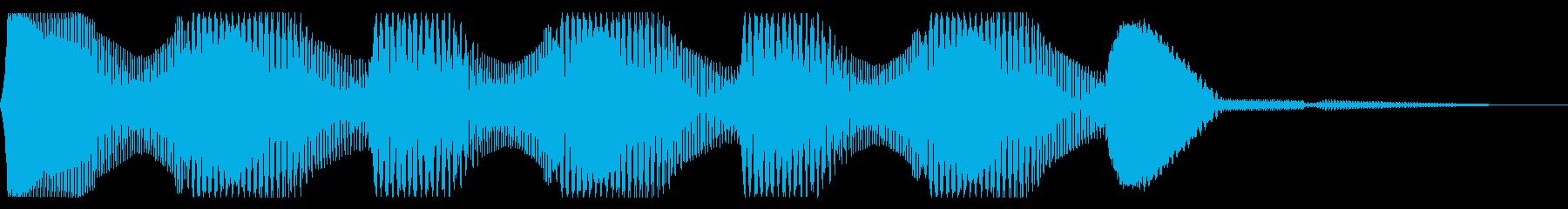 レトロなクイズ正解音 ピンポン3回 合格の再生済みの波形