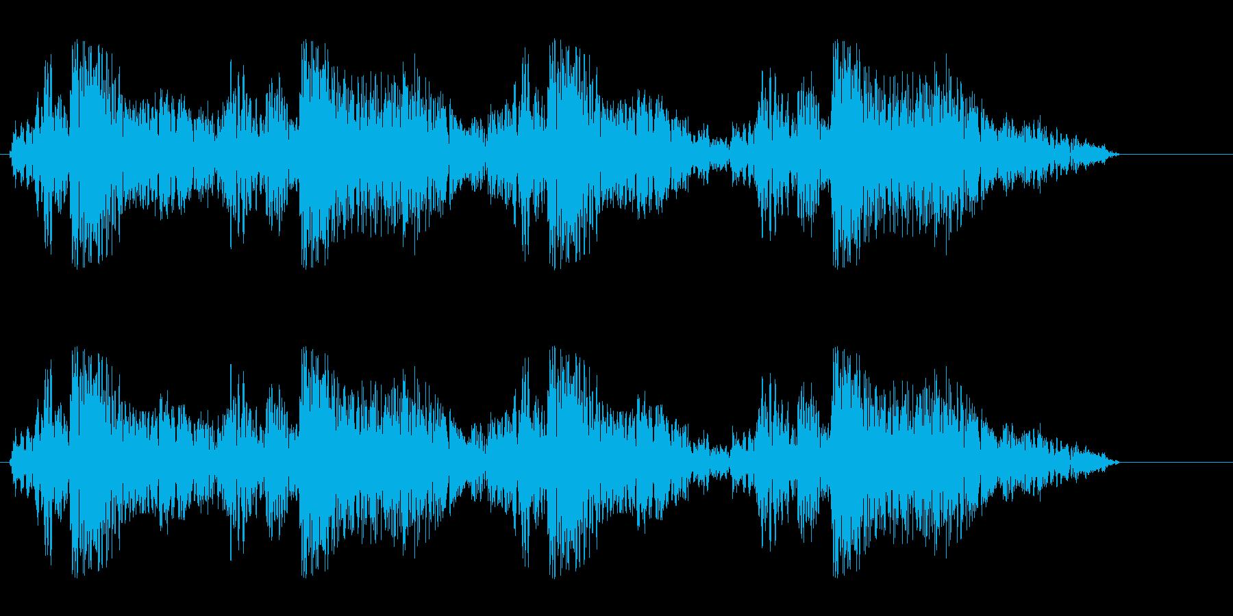 グギャグギャ(密林での動物の鳴き声)の再生済みの波形