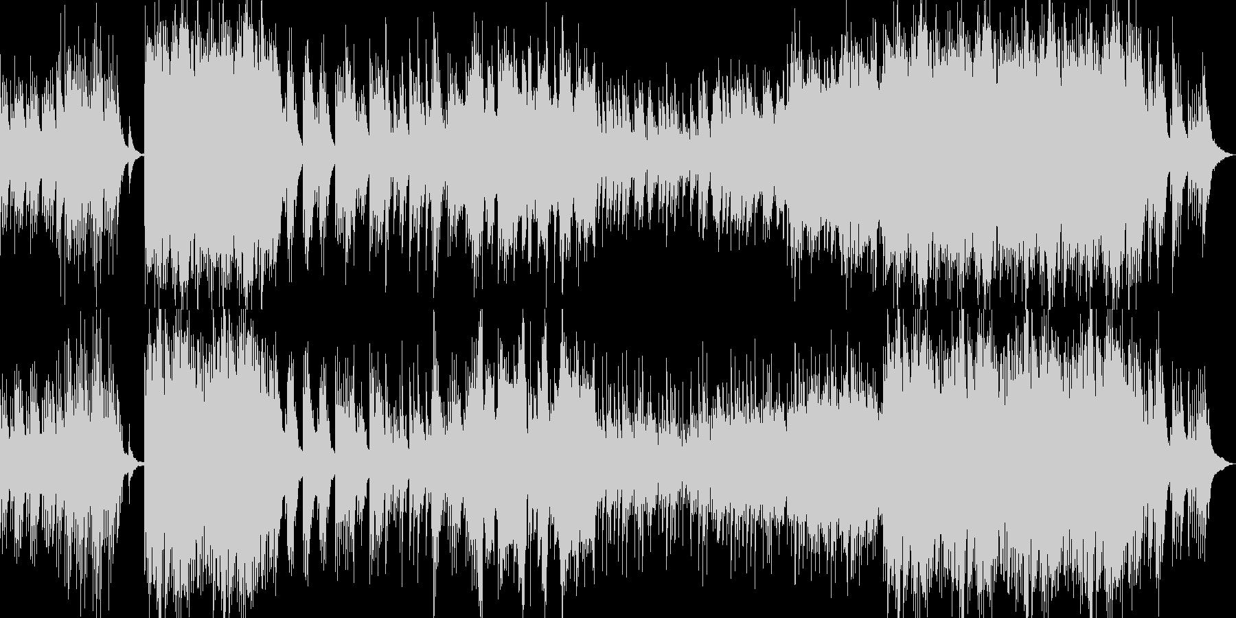 和風琴華やか温かい春オーケストラピアノの未再生の波形