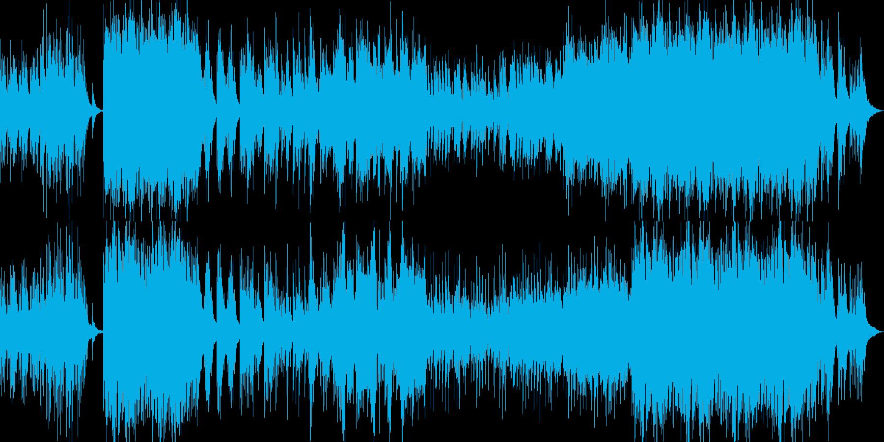 和風琴華やか温かい春オーケストラピアノの再生済みの波形