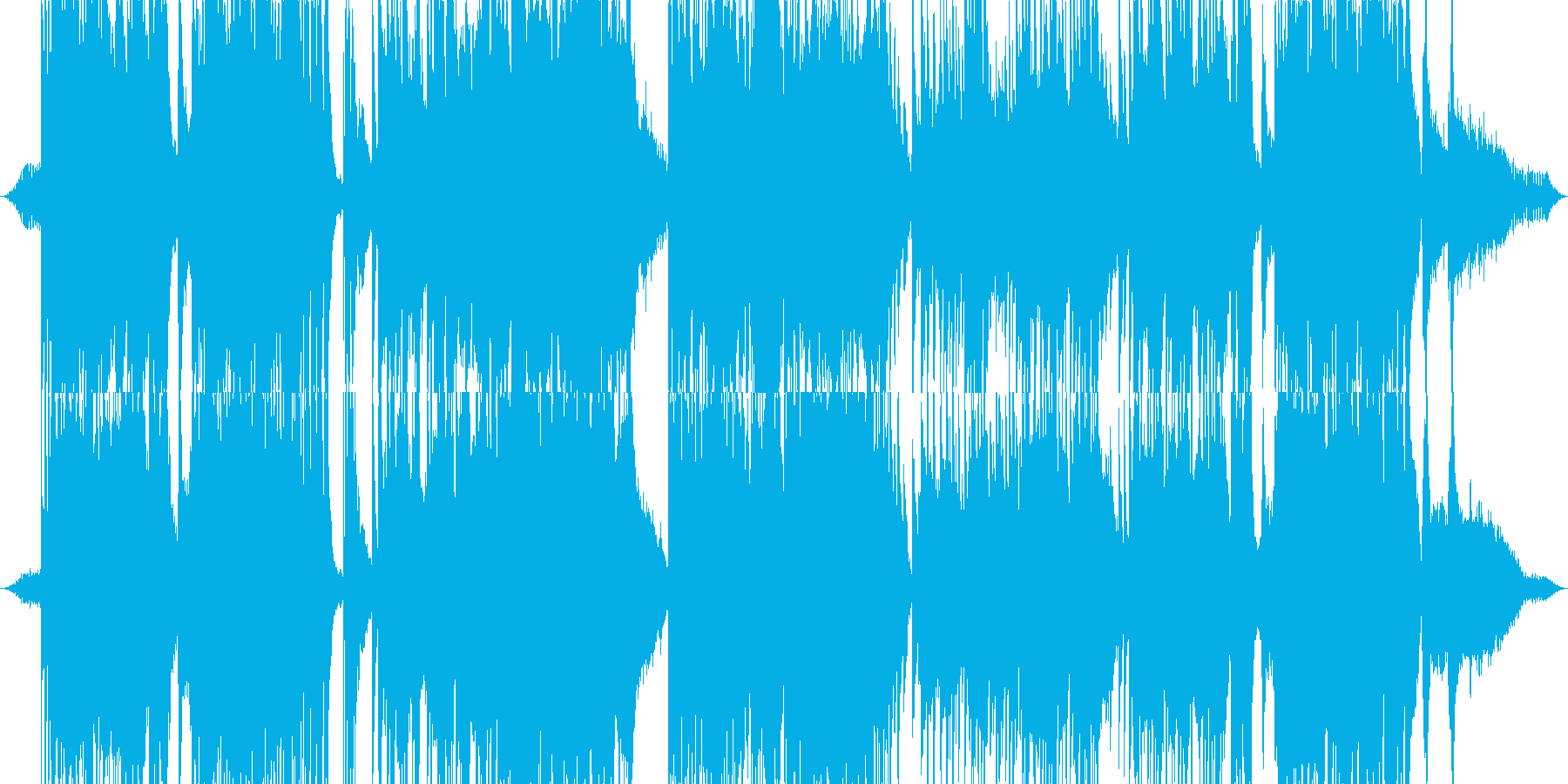 「森」をイメージしたヒーリング・サウンドの再生済みの波形