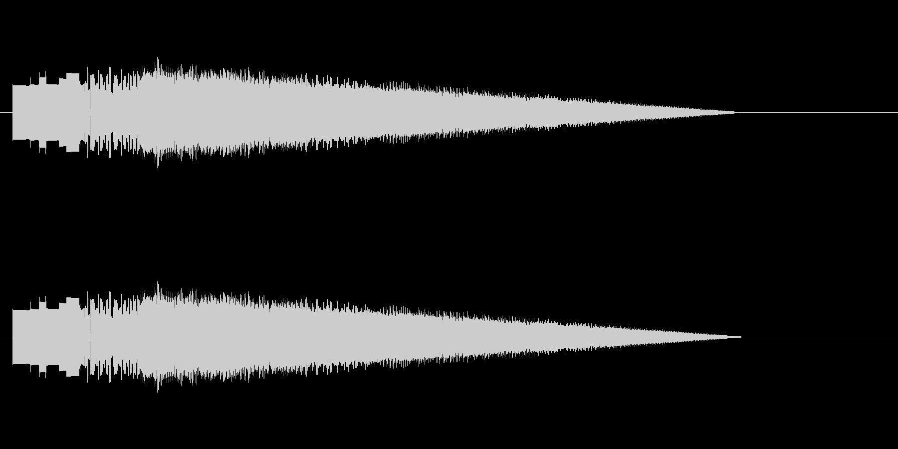 レトロゲーム風レーザーショット4の未再生の波形