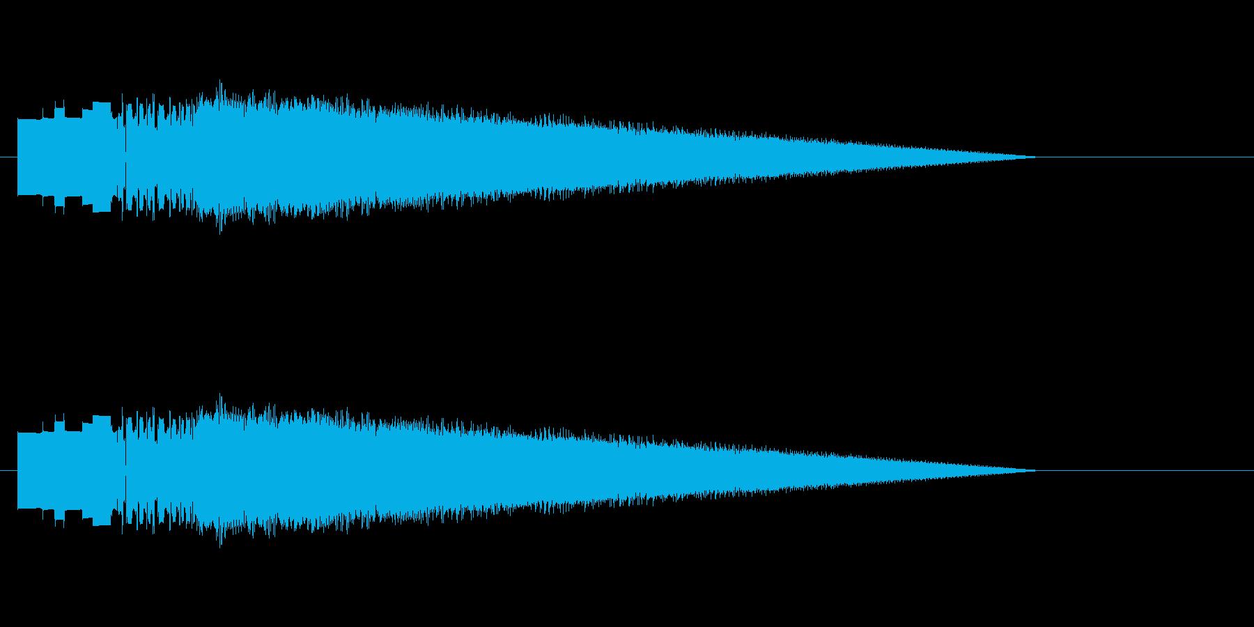 レトロゲーム風レーザーショット4の再生済みの波形