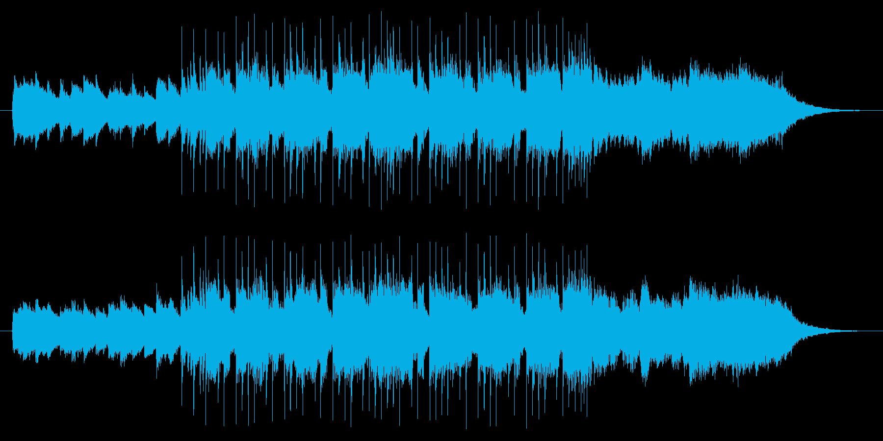 キラキラしたかわいい雰囲気の曲の再生済みの波形