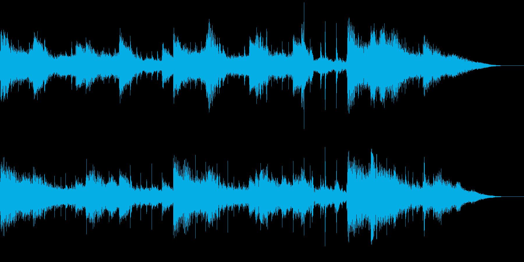 和をテイストにしたBGMの再生済みの波形