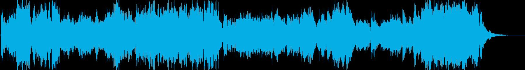 オーケストラ風の勇壮なファンファーレの再生済みの波形