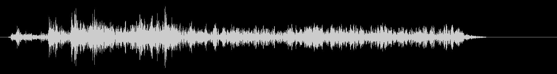 マシン作動音の効果音の未再生の波形