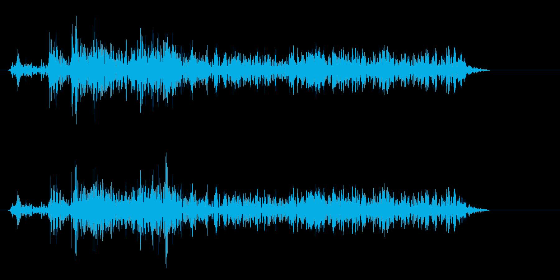 マシン作動音の効果音の再生済みの波形