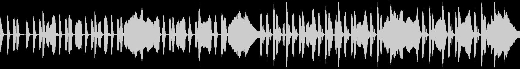 リコーダーとピアノのほのぼの脱力系の未再生の波形