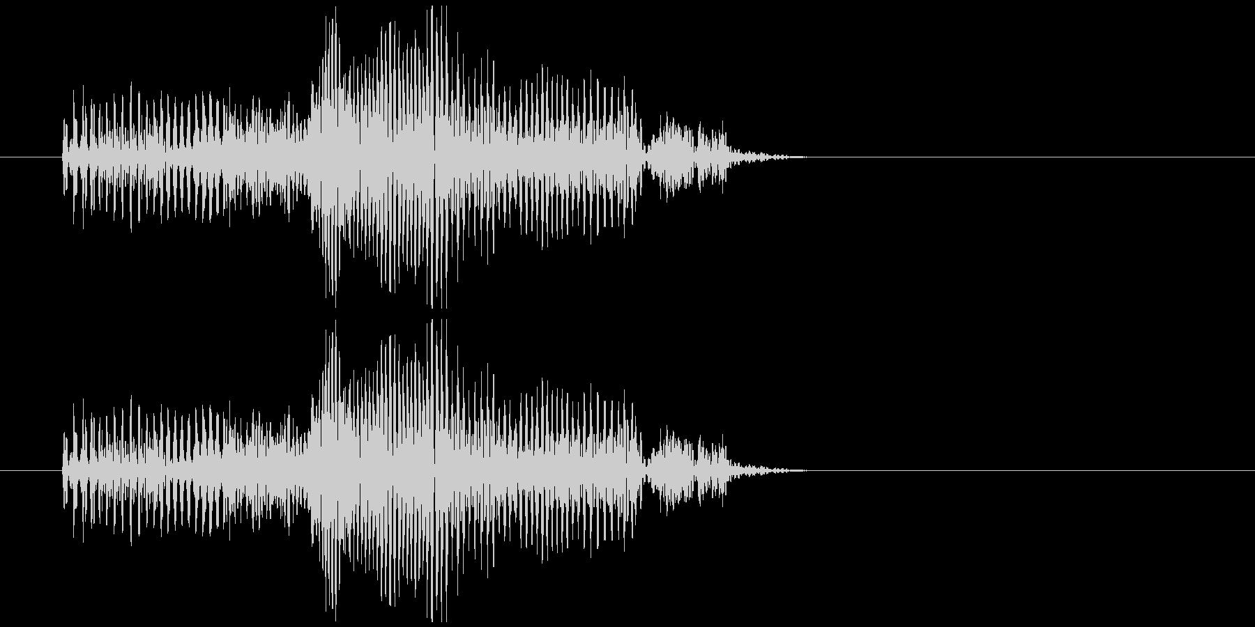 グーというお腹の鳴る音の未再生の波形