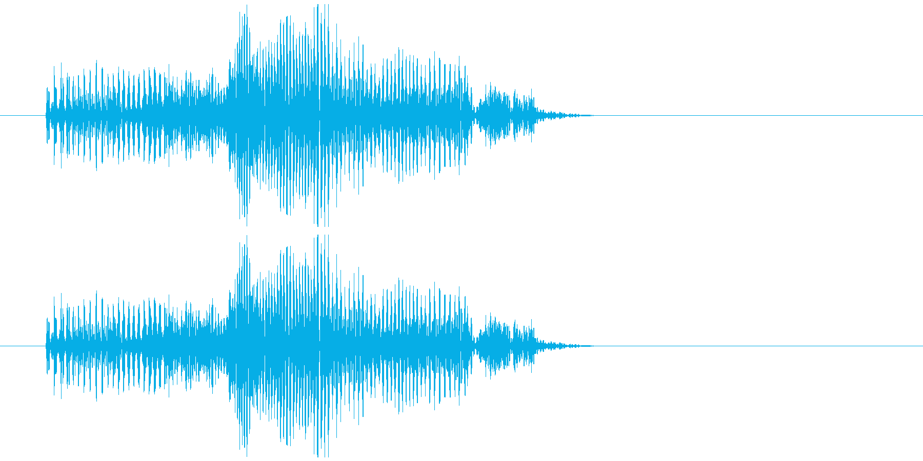 グーというお腹の鳴る音の再生済みの波形