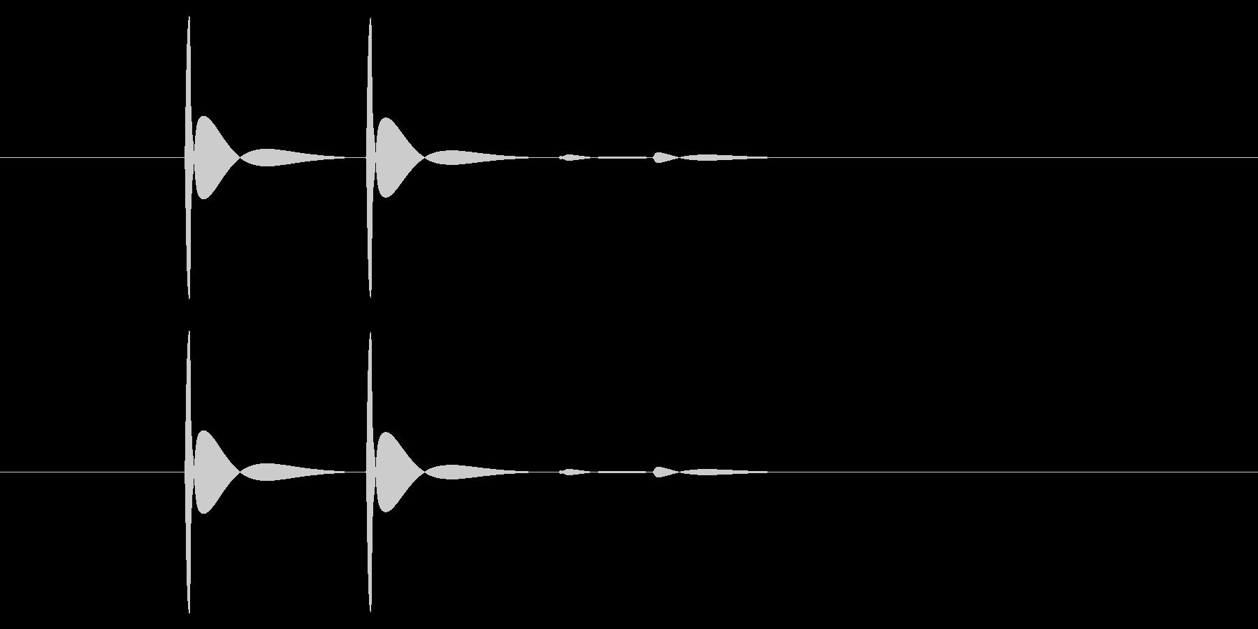 ブツ(相手が電話を切る音)の未再生の波形