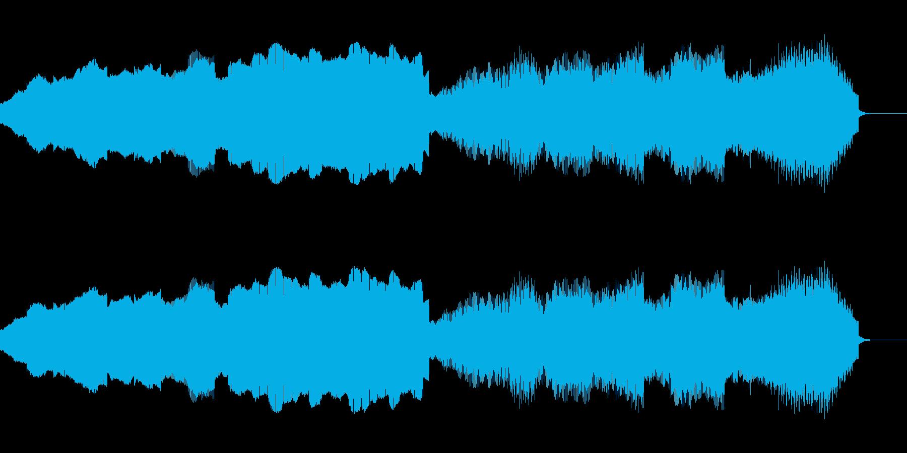 テクノとキラキラした雰囲気のBGMの再生済みの波形