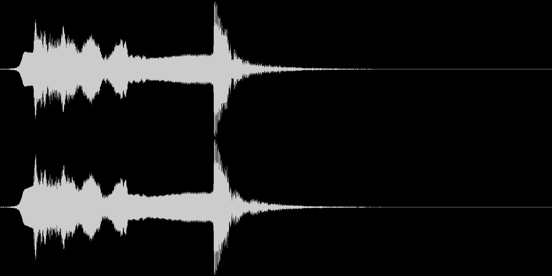 サウンドロゴ笛(能管)と太鼓ですの未再生の波形