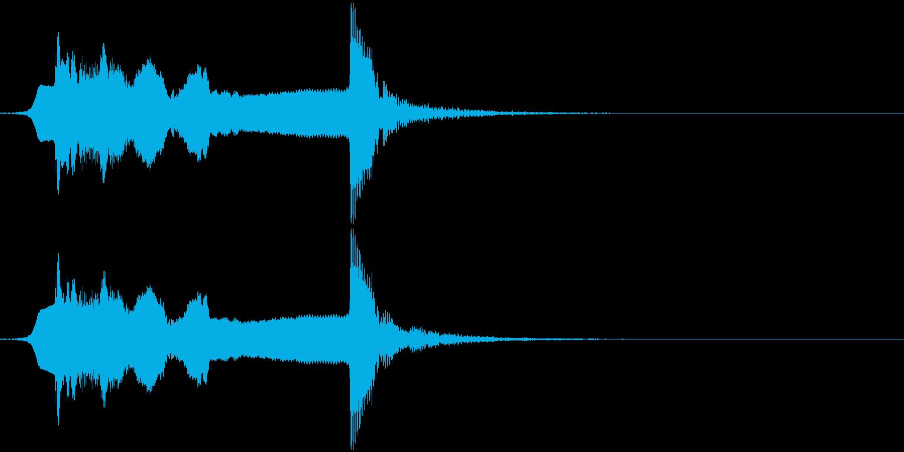 サウンドロゴ笛(能管)と太鼓ですの再生済みの波形