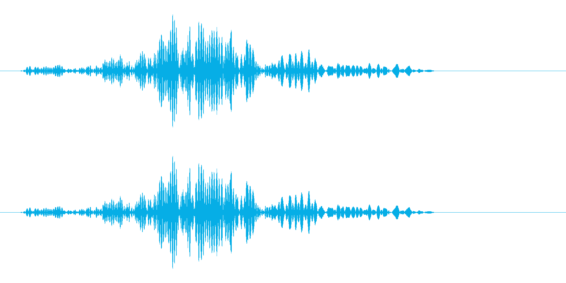 ブンと振り払った時の風切り音の再生済みの波形