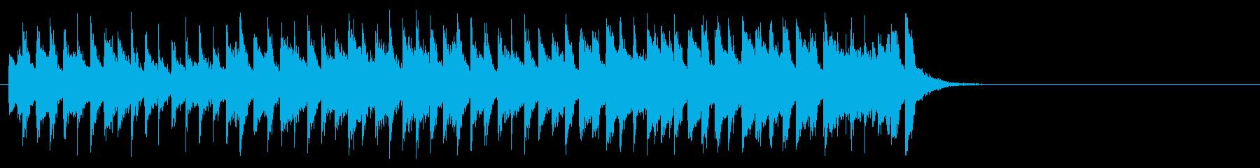 おどけた軽快なポップ(サビ)の再生済みの波形