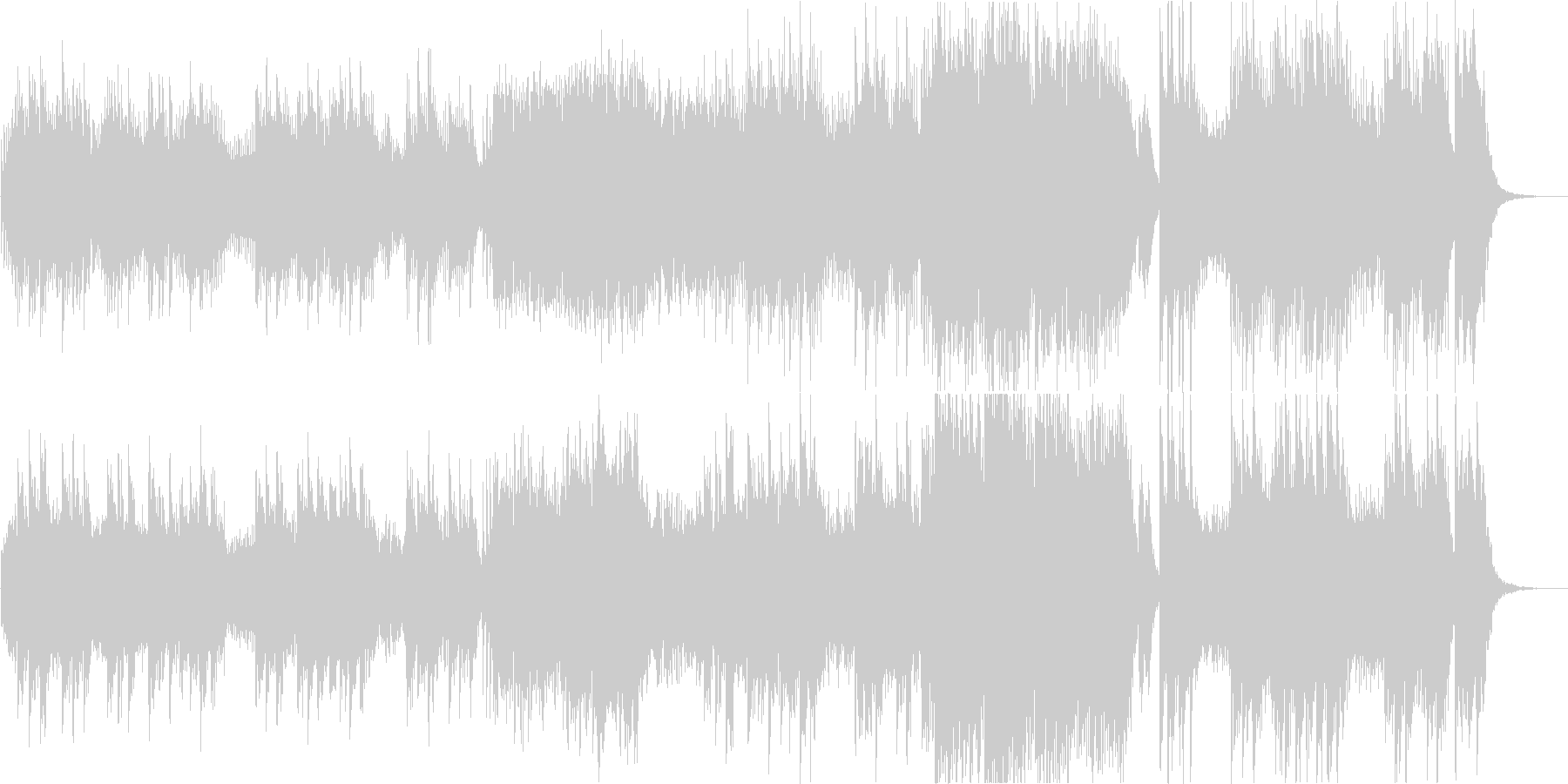 ピアノ曲を神秘的なシンセ音で演奏の未再生の波形