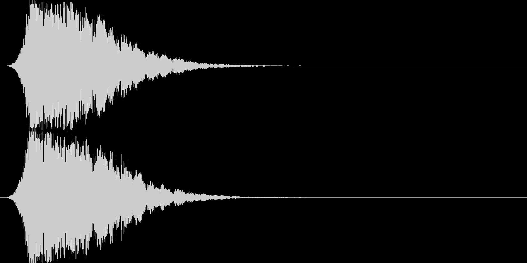 シャキーン 派手なインパクト音1の未再生の波形