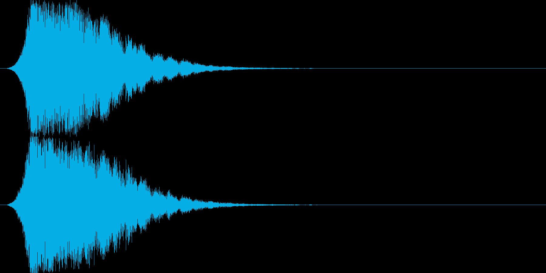 シャキーン 派手なインパクト音1の再生済みの波形