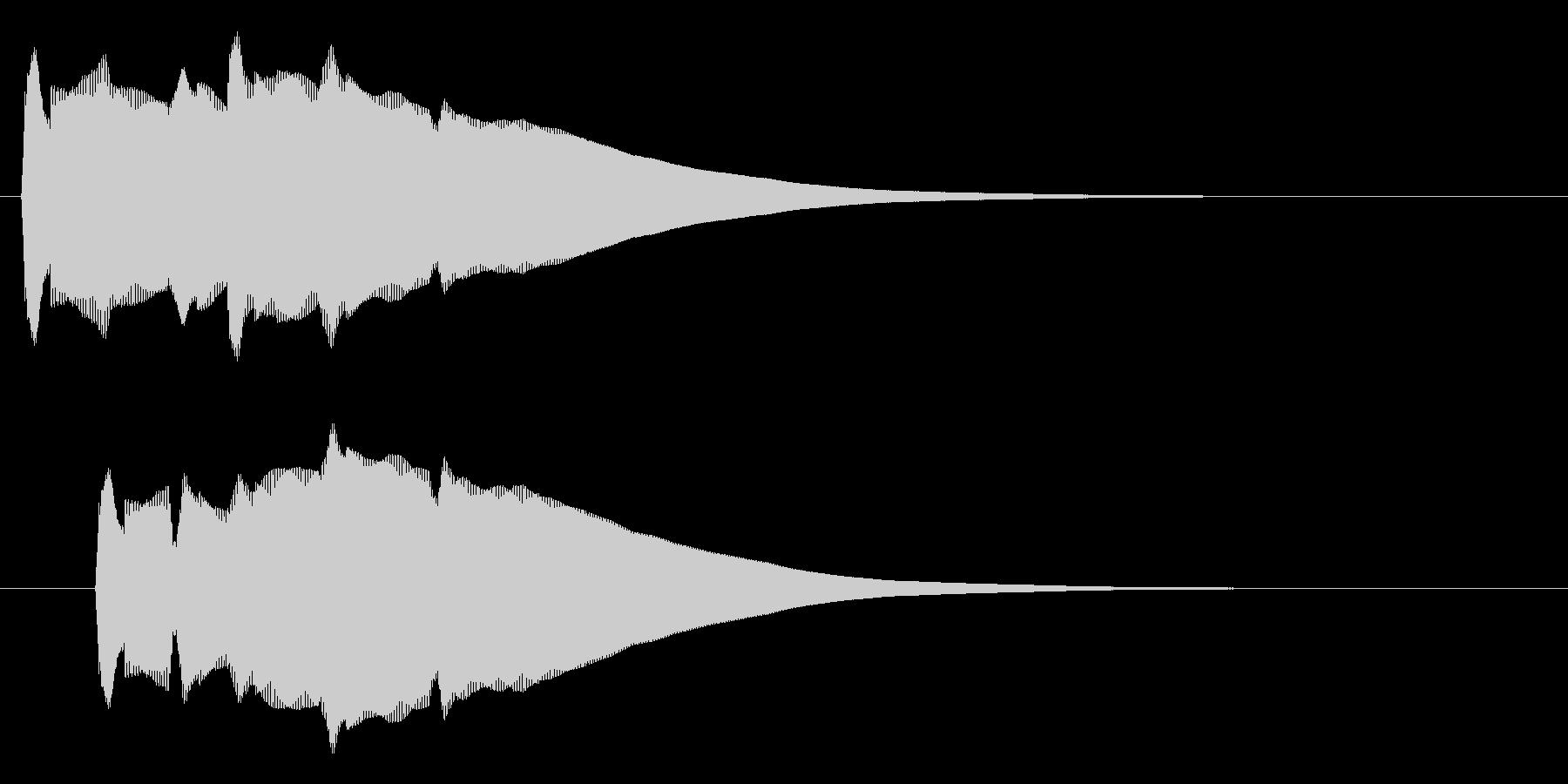 リリーン(なにかを発見した音)の未再生の波形