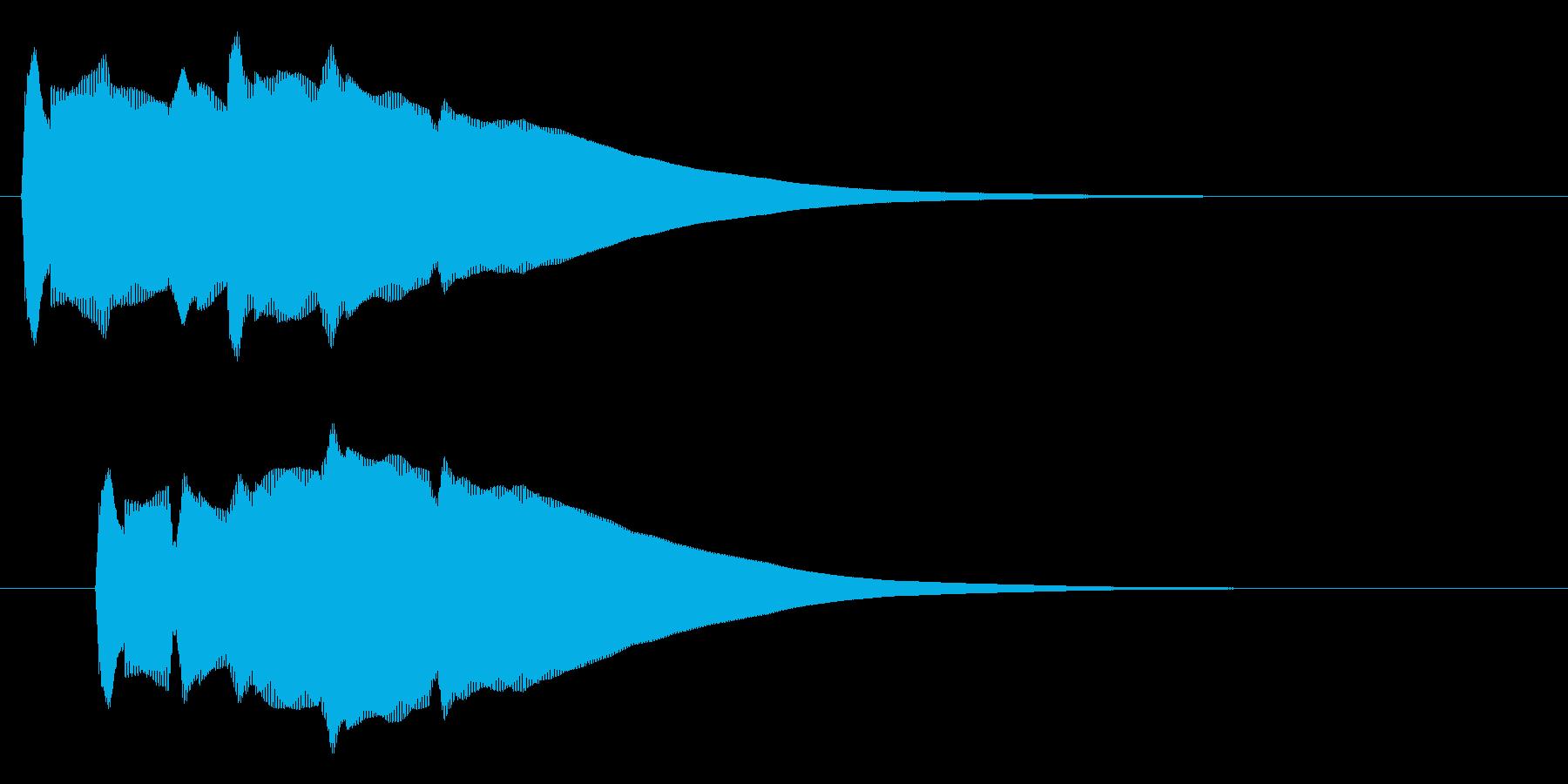 リリーン(なにかを発見した音)の再生済みの波形