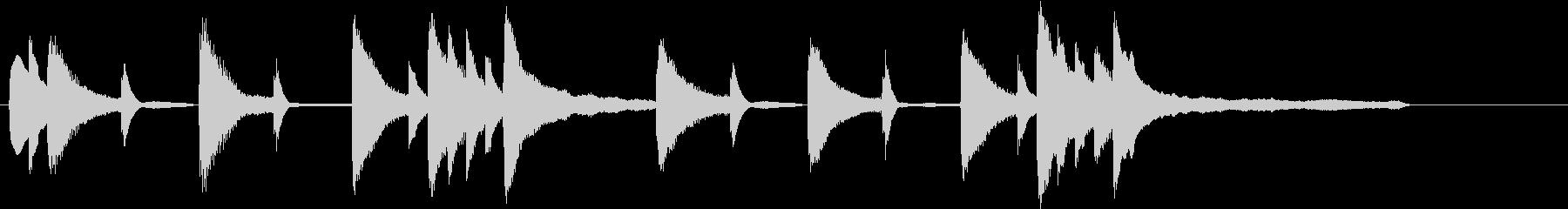 温かみのあるジングル曲の未再生の波形