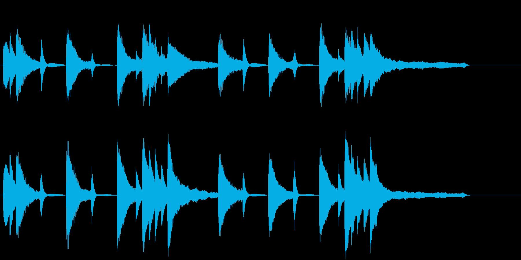 温かみのあるジングル曲の再生済みの波形