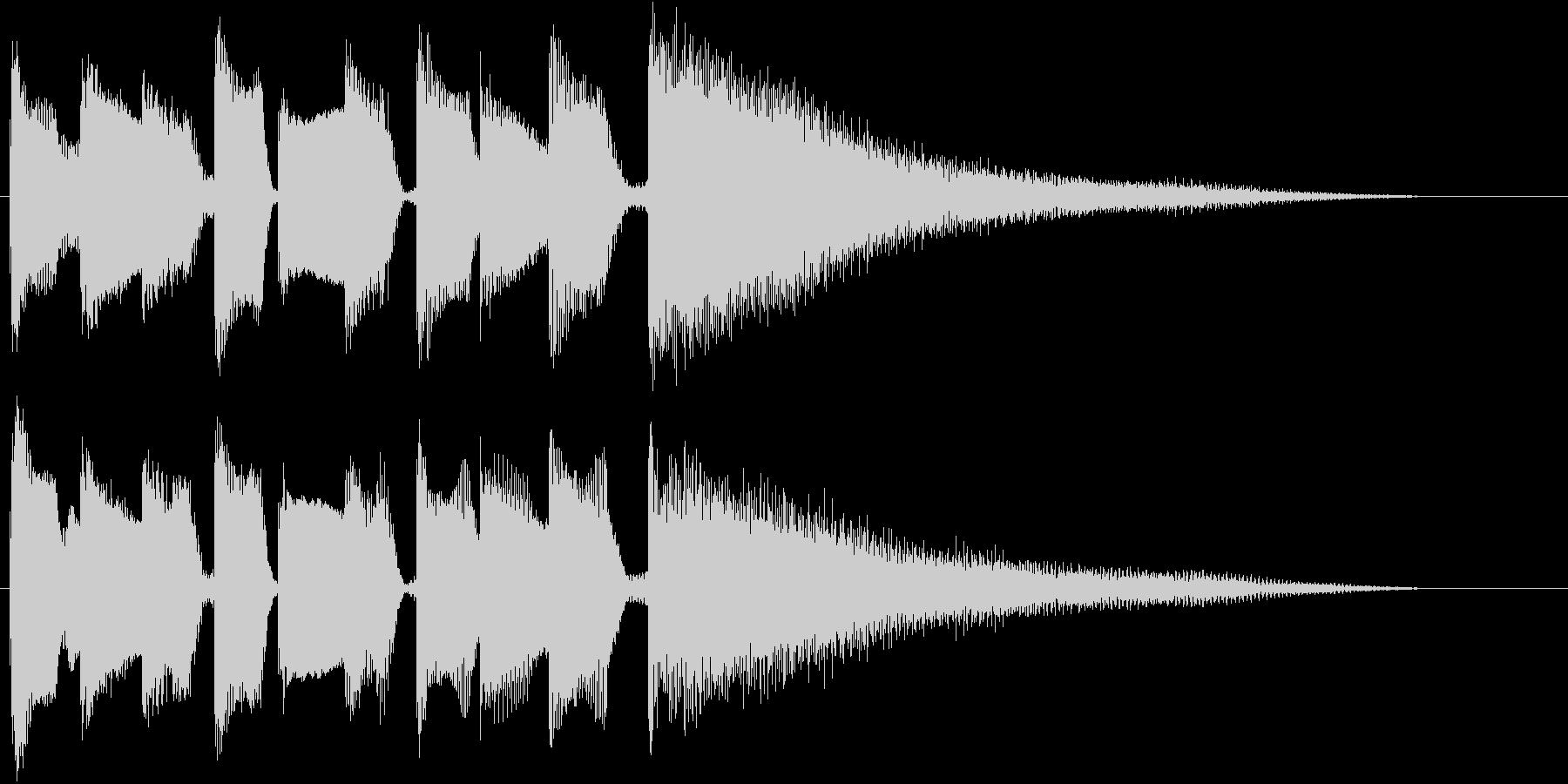 ブルースフレーズを用いたジングル用2の未再生の波形