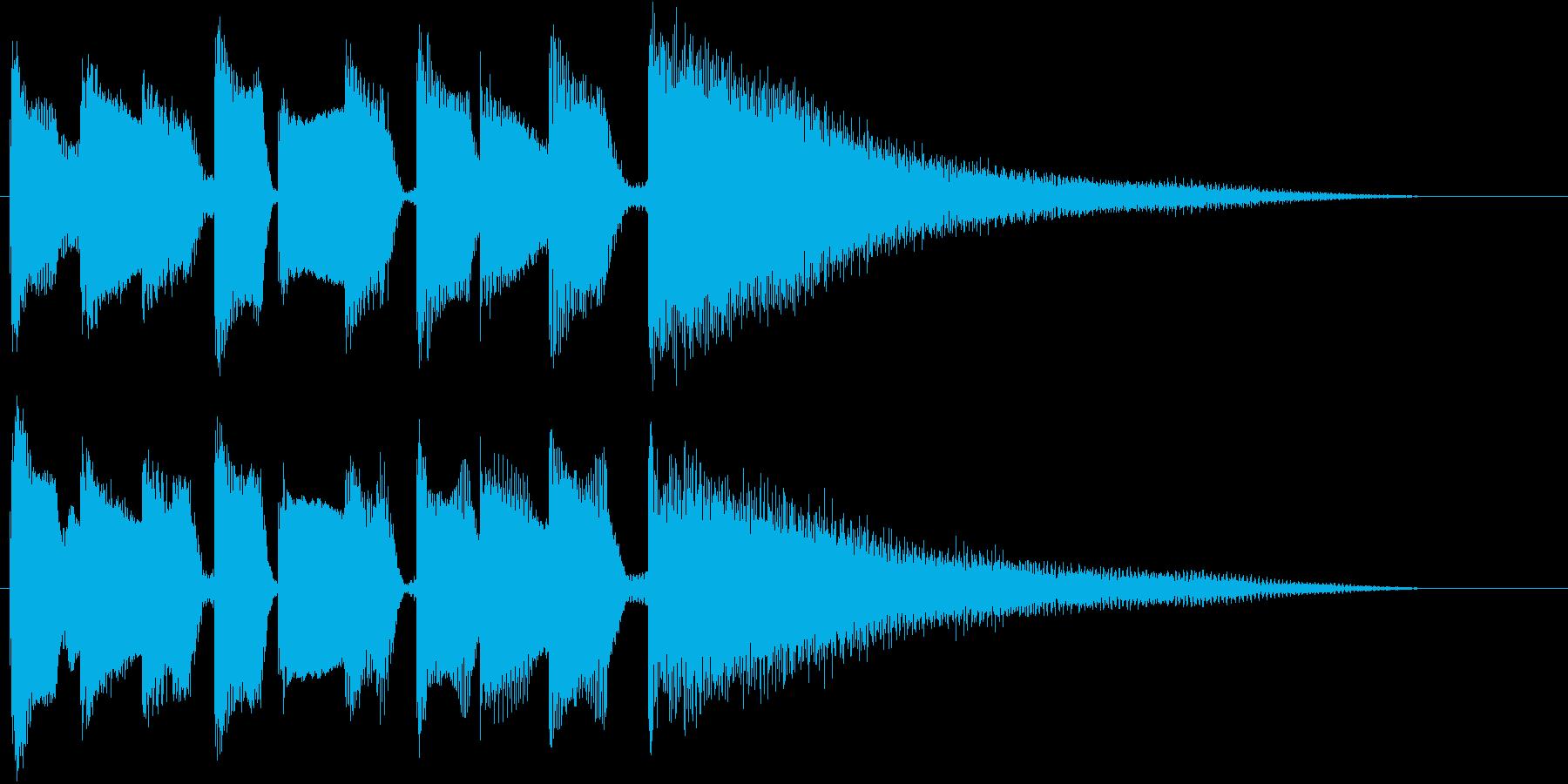 ブルースフレーズを用いたジングル用2の再生済みの波形