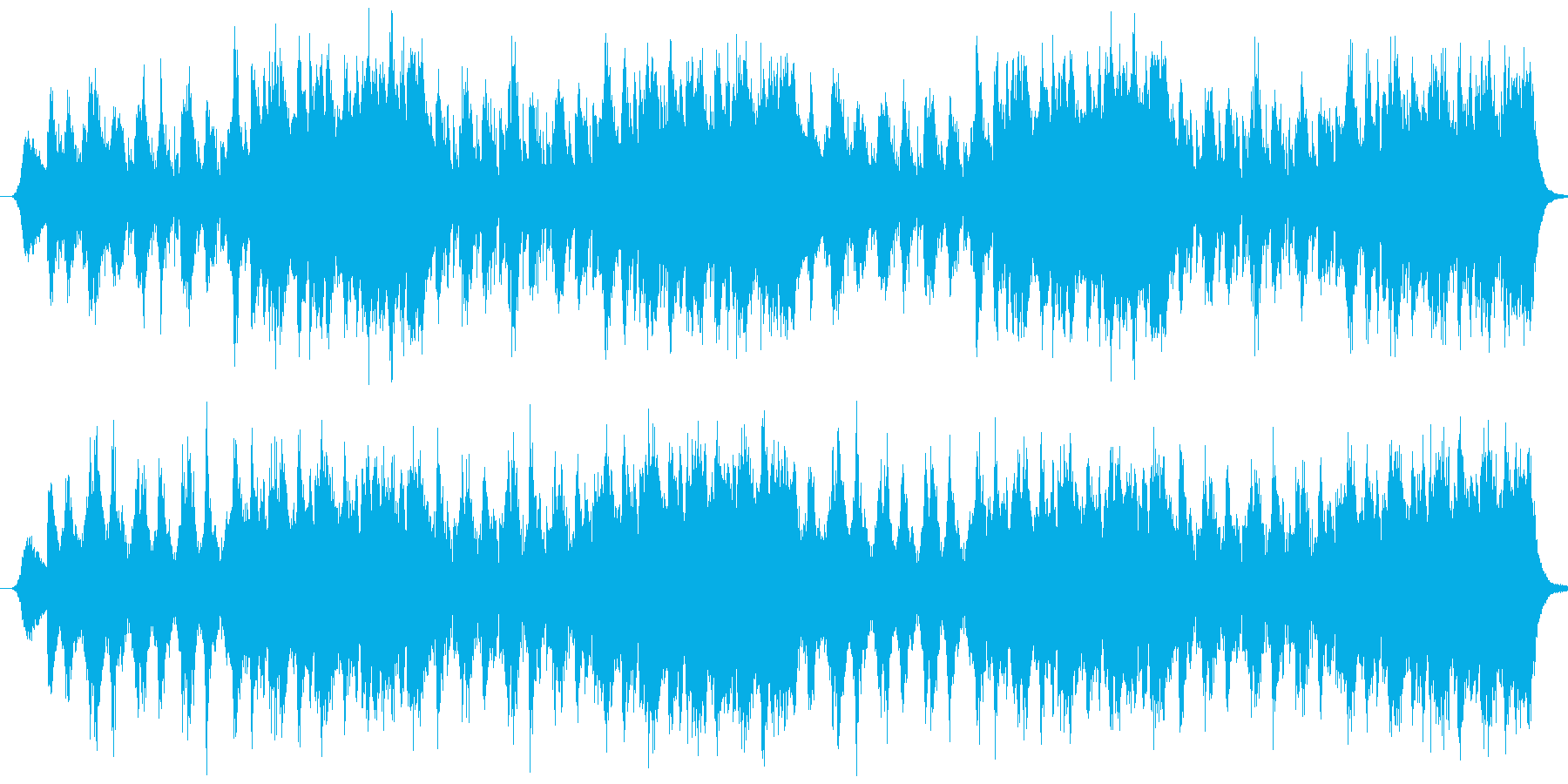 緊張感を感じさせるオーケストラ曲の再生済みの波形