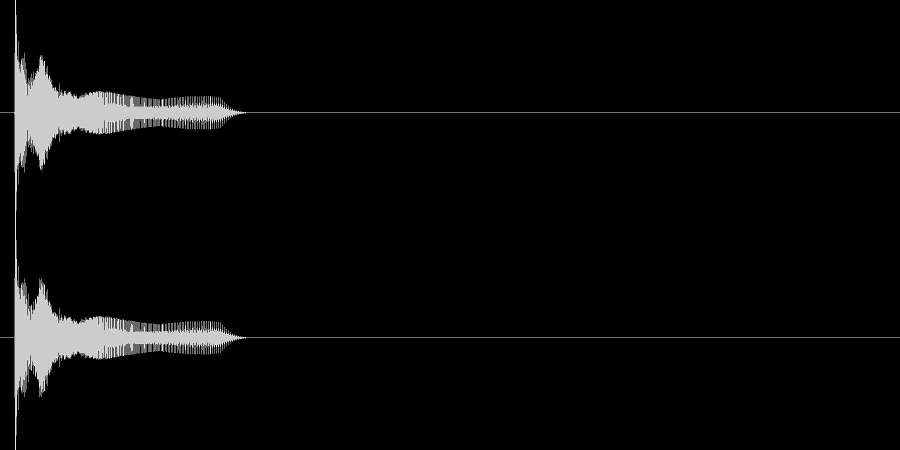 シューティングゲームのショット音に使用…の未再生の波形