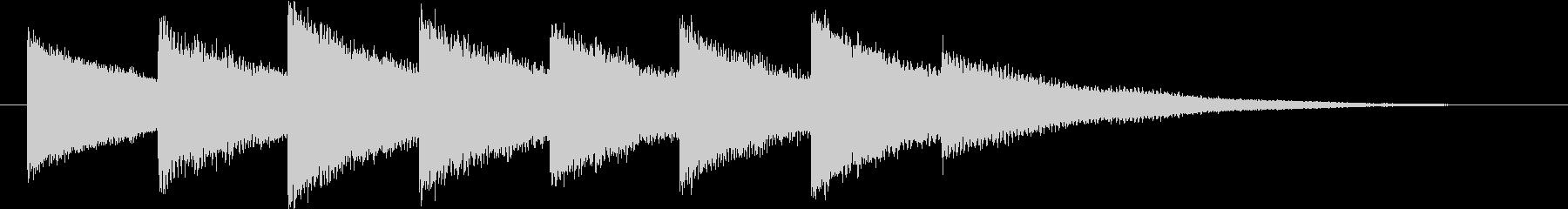 ホラー・不穏なベルの音2の未再生の波形